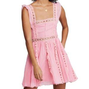NWT Free People Verona Lace Trim Minidress